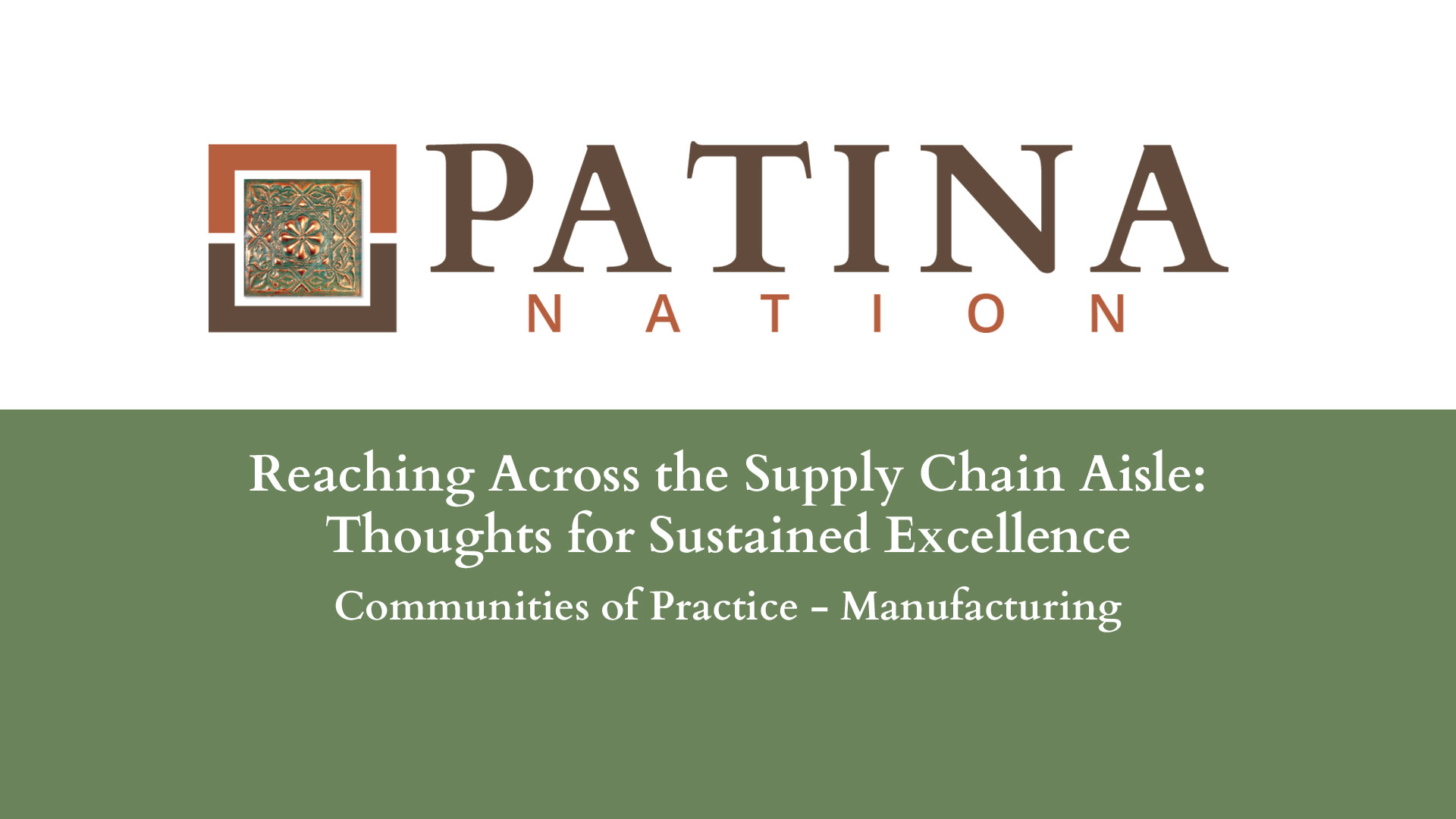 Reaching Across the Supply Chain Aisle