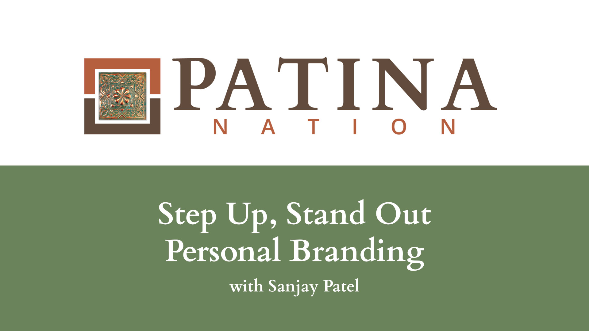 Step Up, Stand Out – Personal Branding