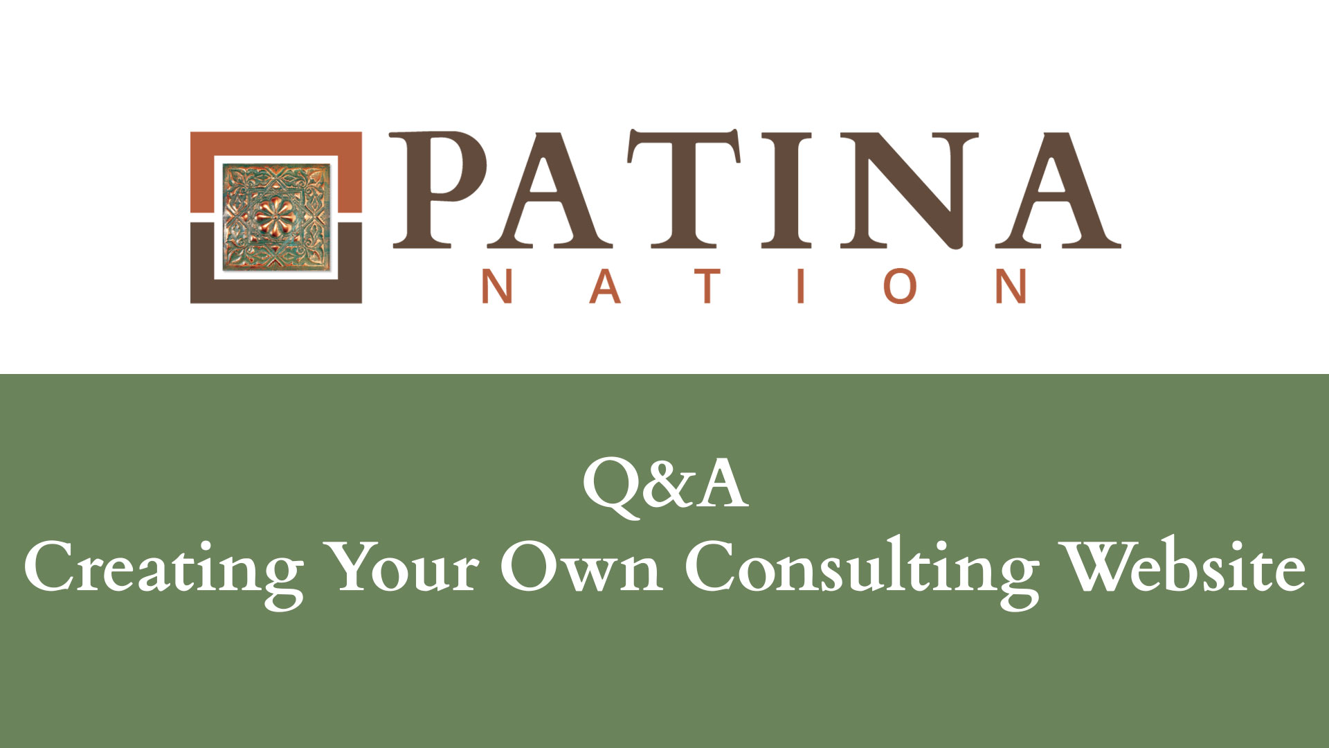 Q&A – Creating Your Own Consulting Website