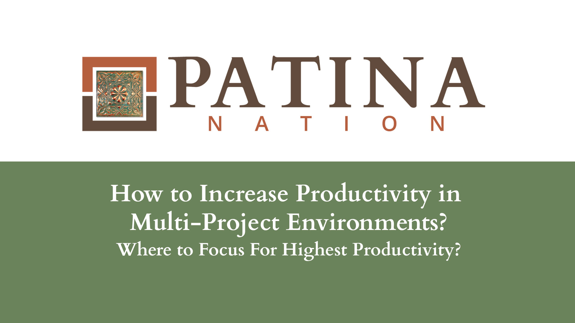 How to Increase Productivity in Multi-Project Environments?